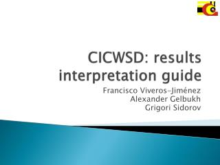 CICWSD: results interpretation guide