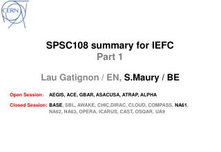 SPSC108  summary for  IEFC   Part 1