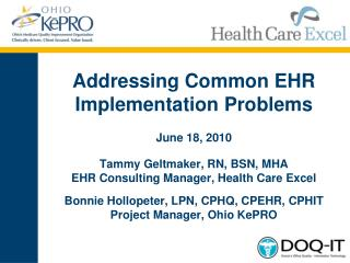 Addressing Common EHR Implementation Problems