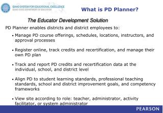 What is PD Planner?