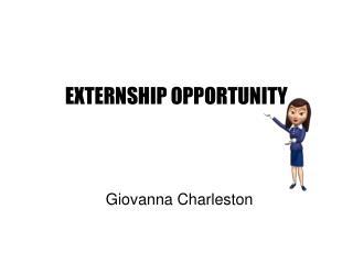 EXTERNSHIP OPPORTUNITY