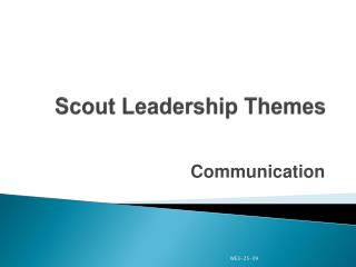 Scout Leadership Themes
