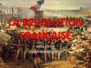 LA REVOLUTION FRANÇAISE