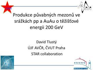 Produkce půvabných mezonů ve srážkách  pp a  AuAu o těžišťové energii  200  GeV