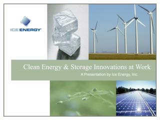 Clean Energy and Storage Innovations at Work