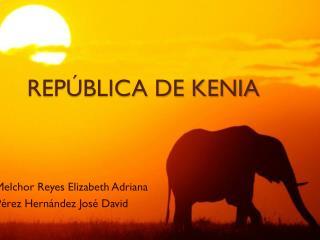 REPÚBLICA DE KENIA