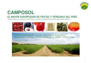"""SIERRA EXPORTADORA: Evento """"Municipios Productivos"""""""