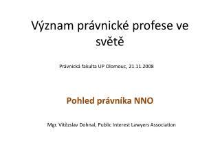 Význam právnické profese ve světě