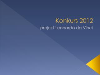 Konkurs 2012
