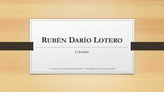 Rubén Darío Lotero