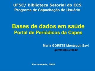 Bases de dados em sa de Portal de Peri dicos da Capes