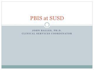 PBIS at SUSD