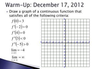 Warm-Up: December 17, 2012