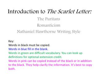 Introduction to  The Scarlet Letter: