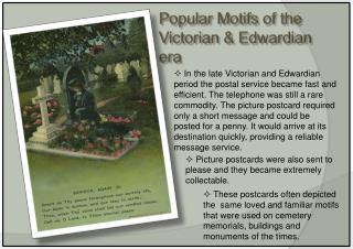 Popular Motifs of the Victorian & Edwardian era