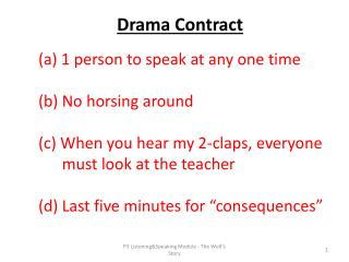Drama Contract