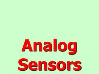 Analog Sensors