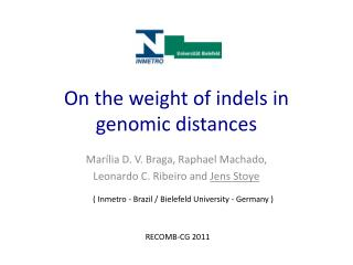On  the weight of  indels  in genomic  distances