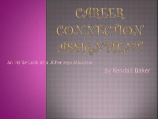 Career Connection assignment