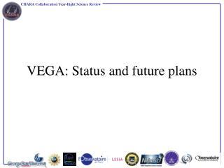 VEGA:  Status  and future plans