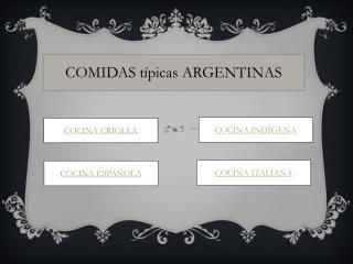 COMIDAS t�picas ARGENTINAS
