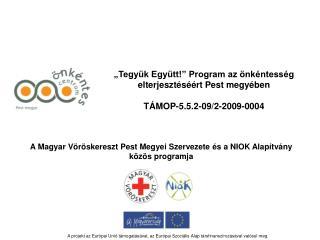 �Tegy�k Egy�tt!� Program az �nk�ntess�g elterjeszt�s��rt Pest megy�ben T�MOP-5.5.2-09/2-2009-0004