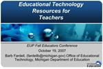 Educational Technology Resources for Teachers