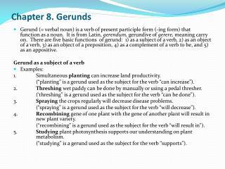 Chapter 8. Gerunds