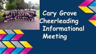 Cary Grove Cheerleading Informational Meeting