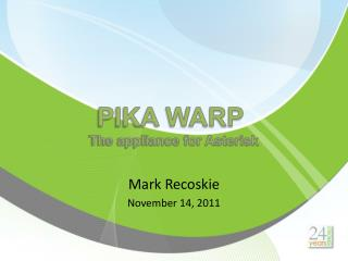 Mark Recoskie November 14, 2011