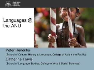Languages @ the ANU