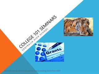 College 101 Seminars