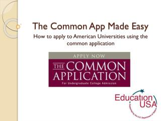 The Common  App Made Easy