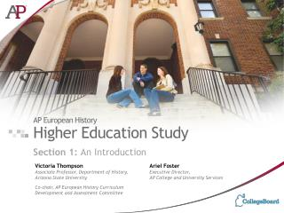 AP European History Higher Education Study