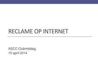 Reclame  op Internet