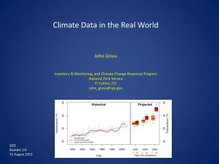 Climate Data in the Real World