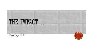 The impact…