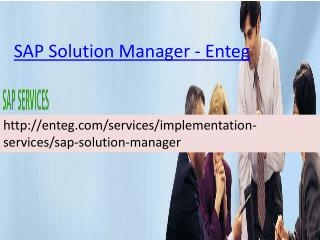 Enteg SAP Solution Manager