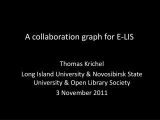 A collaboration graph for E-LIS