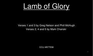 Lamb of Glory