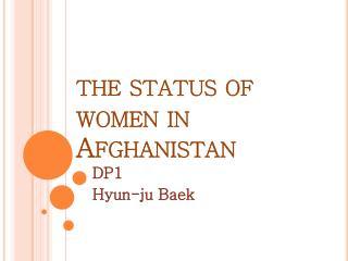 the status of women in Afghanistan