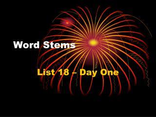 Word Stems