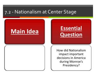 7.2 -  Nationalism at Center Stage