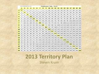 2013 Territory Plan Steven  Krum