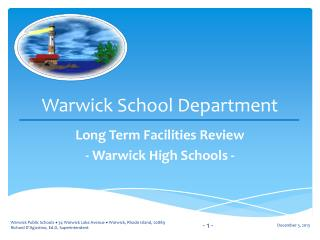 Warwick School Department