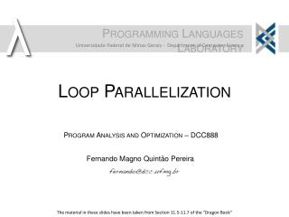 Loop Parallelization