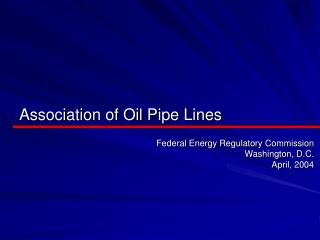 Association of Oil Pipe Lines
