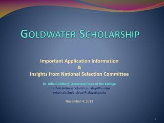 G oldwater Scholarship
