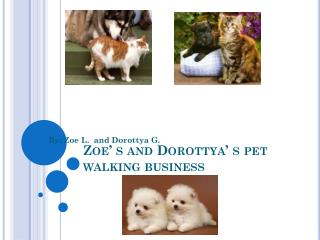 Zoe' s and Dorottya' s pet walking business