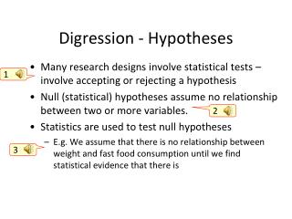 Digression - Hypotheses